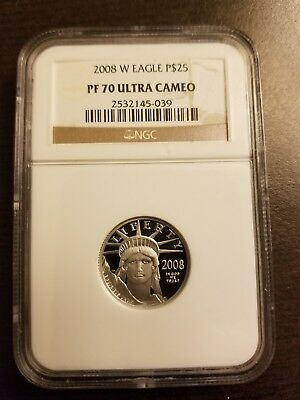 2008-W NGC PF70 1/4 oz Proof Platinum Eagle $25