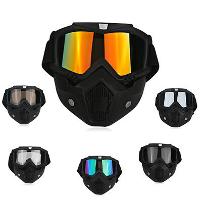 Flexible Motorcycle Helmet Protective Face Mask ATV Goggles Glasses Bike Safety
