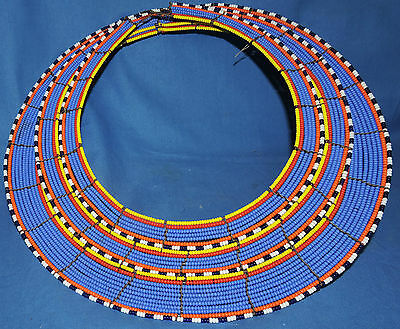 Huge african masai necklace Maasai Beaded Simanjiro Village, Tanzania .