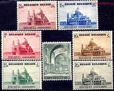 Belgium 1938 Brussels Basilica/Sacred Heart Building Architecture Church 7v MNH