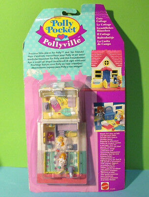 Polly Pocket Mini NEU ♥ Kleines Haus ♥ Cozy Cottage Pollyville ♥ OVP ♥ 1993 NEW