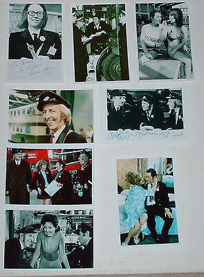 On The Buses Set Of 16 Reproduction 6 X 4 Photos And Autographs Tv Comedy
