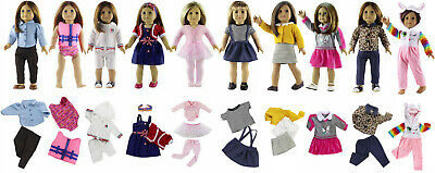 5 Set New Style Doll Clothes FOR 18'' inch American Girl Handmade Doll Dress B02