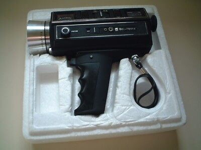 Bell & Howell 1216 Focus-Matic 6X Power-Zoom Movie Camera Filmosound 8 Capabili'