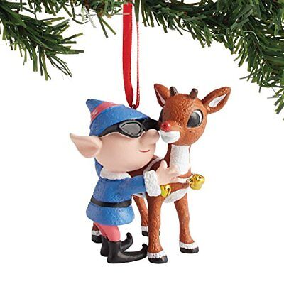 Department 56 4057970 Rudolph and Elf Hanging Ornament