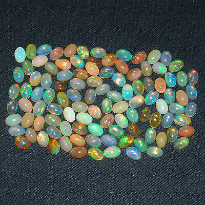 106 Pcs ~Certified Lot~ AAA Natural Ethiopian Opals Flashy & Vibrant Color Play