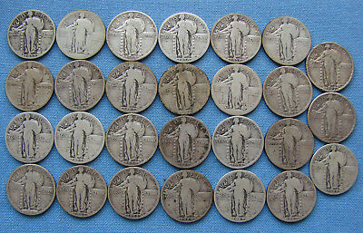 *nice Assorted Lot Of (27) Standing Liberty Quarters - Estate Fresh*