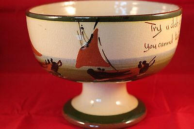 Watcombe Torquay Devon Mottoware Aller Vale Junket Bowl Motto Dish Of Junket