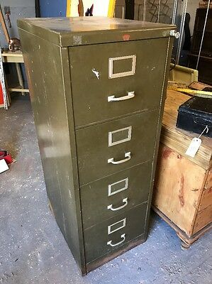 Vintage Filing Cabinet Industrial Storage Metal Salvage