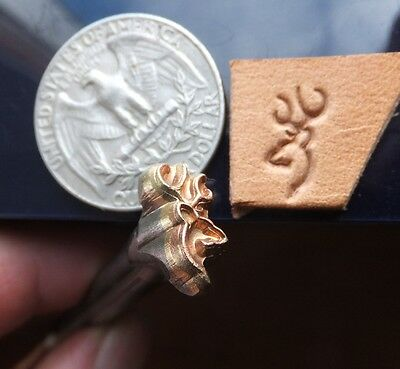 016-10 Wildness Deer Symbol Leather Saddlery Tool Punch 3D Brass Stamp