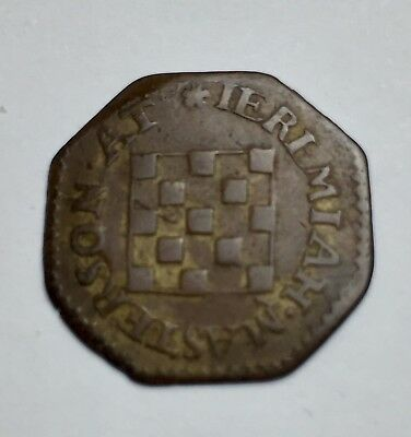 17th Century Farthing - Masterton - Kent 66 - with Very old ticket (A306)