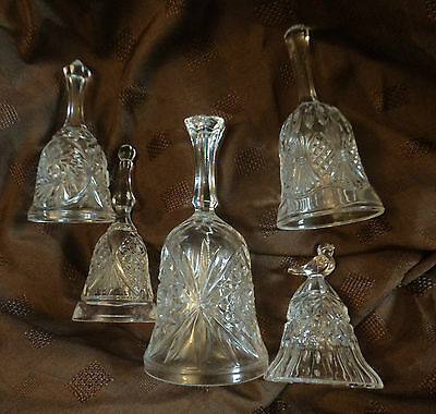 Wedding favours 5 bells pressed glass assortment