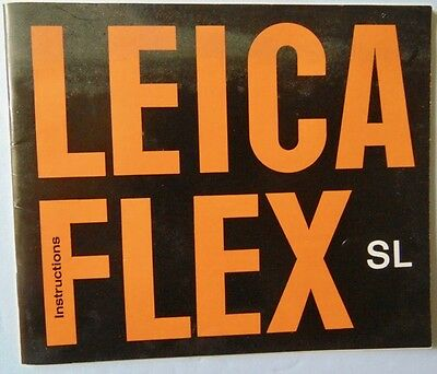 Vintage LEICA Leicaflex SL Instructions Owners Manual