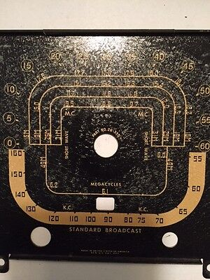 Zenith Transoceanic Radio Model 8G005 Dial/Face Plate