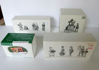 Lot of 4 Dept 56 Figurines Heritage Village Collection