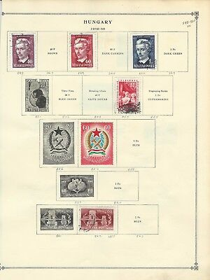 Hungary - Mint / Used Stamps Collection (1949-1954)