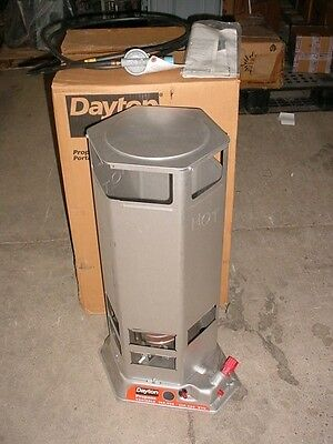 New Dayton 4E237C Propane Construction Heater 100,000 T0 200,000 Btu/hr