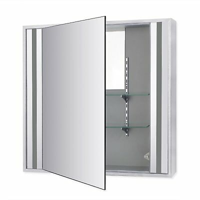 1200x340mm Tall Stainless Steel Mirror Cabinet Wall Mount Bathroom Storage Unit