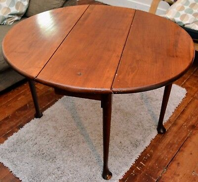 Antique Victorian mahogany drop-leaf occasional/tea table