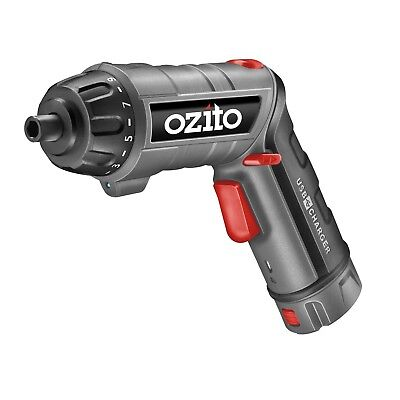 Ozito 3.6V Screwdriver Torch with Charging Base usb charger new