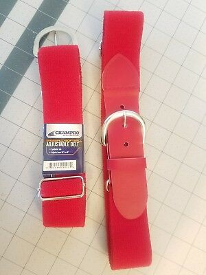 Youth/Adult belts  Baseball/Softball Belt A060 Red/ Adjustable~New with Tag