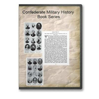 Confederate Military History Book Series - 12 Volumes American Civil War CD B517