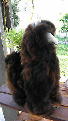 "New Handmade By Our Artisan In Peru 18 - 19"" Standing Plush Alpaca #31464"