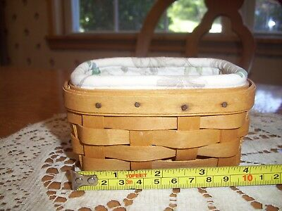 Small Longaberger basket with Protector & Liner
