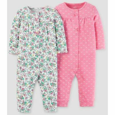 057af1ff3 New Just One You Carter's 2 Pack Girl Rompers Floral Pink NB 3m 6m NWT  Outfit