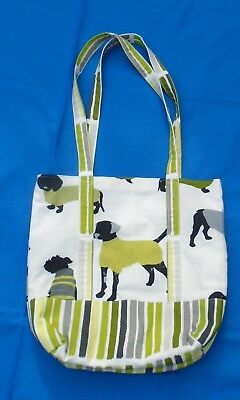Pretty Shoulder Tote Bag Fully Lined  Dogs Decoration Fabric  Ideal Xmas Present