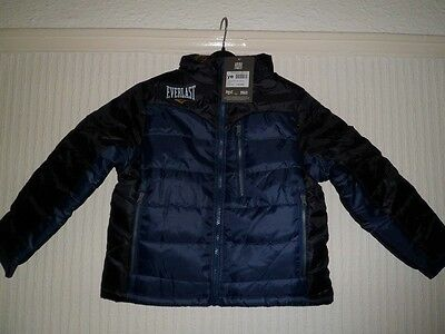 Everlast Boys Coats RRP £44.99 Fleece Lined.Ages 7-8 And 9-10.BNWT.Blue/Black
