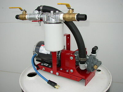 New Waste/Fuel Oil Transfer Pump,Biodiesel,WVO,Diesel,10 GPM,10 Micron,1/3 HP
