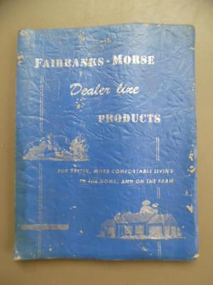 1950 Fairbanks Morse Dealer Line Catalog Windmill Z Engine Light Plants More BIG