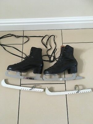 Vintage Leather Ice Skates Made By Fagan