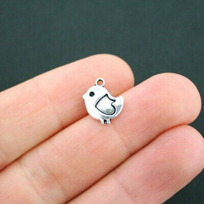 6 Gingerbread House Charms Antique Silver Tone Simply Adorable XC020