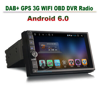 doppel din 7 android 6 0 autoradio radio dab gps navi. Black Bedroom Furniture Sets. Home Design Ideas