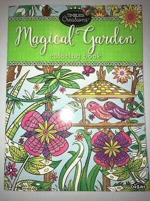 NEW ✿ Timeless Creations Magical Garden Adult Coloring Book 64 Perforated Page