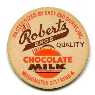 Roberts Bros Dairy Indianapolis IN Milk Bottle Cap Marion County Indiana IND I N