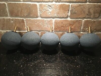 75mm Round Air Stone, 8mm diameter BRASS fitting, Pond,Oxygen, Koi,  x5 stones