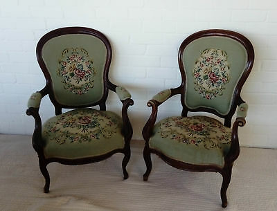 Louis XV Carved Oak Armchairs