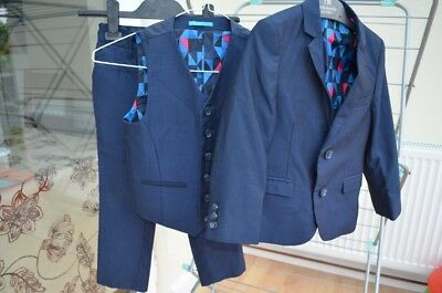 NEXT Boys 3 piece suit dark navy age 5-6 yrs FORMAL/WEDDING