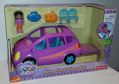 Dora The Explorer Picnic Time Van Adventure Car Vehicle Fisher Price New Gift 🌎