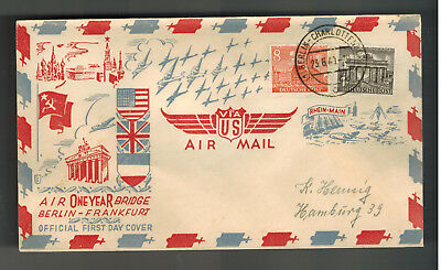 1949 Berlin West Germany FDC   one Year Air Bridge Airlift First Day Cover
