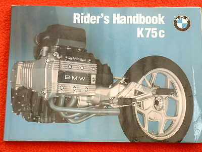 BMW K75c Riders Handbook - Original
