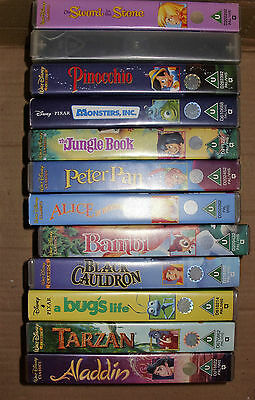 Collection of 12 Disney VHS Videos (D)