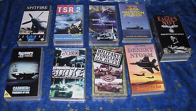 Collection 11 VHS Videos Military Documentary/informative