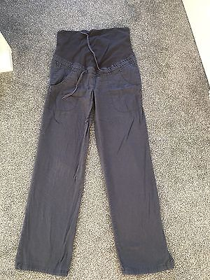 H&M Navy Maternity Over The Bump Trousers Size 10