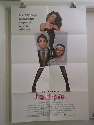SHE'S OUT OF CONTROL one sheet movie poster TONY DANZA CTHERINE HICKS AMI DOLENZ