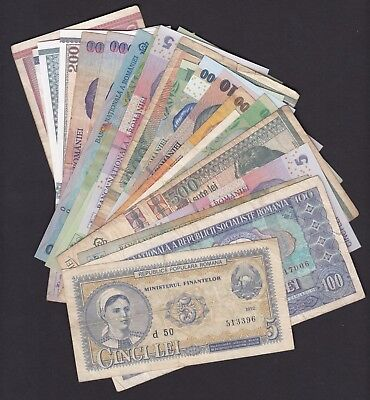 ROMANIA, mix of banknotes, 22 pcs