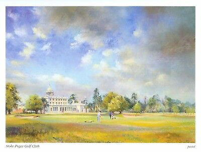 Mounted Print. Golf. Stoke Poges Golf Club